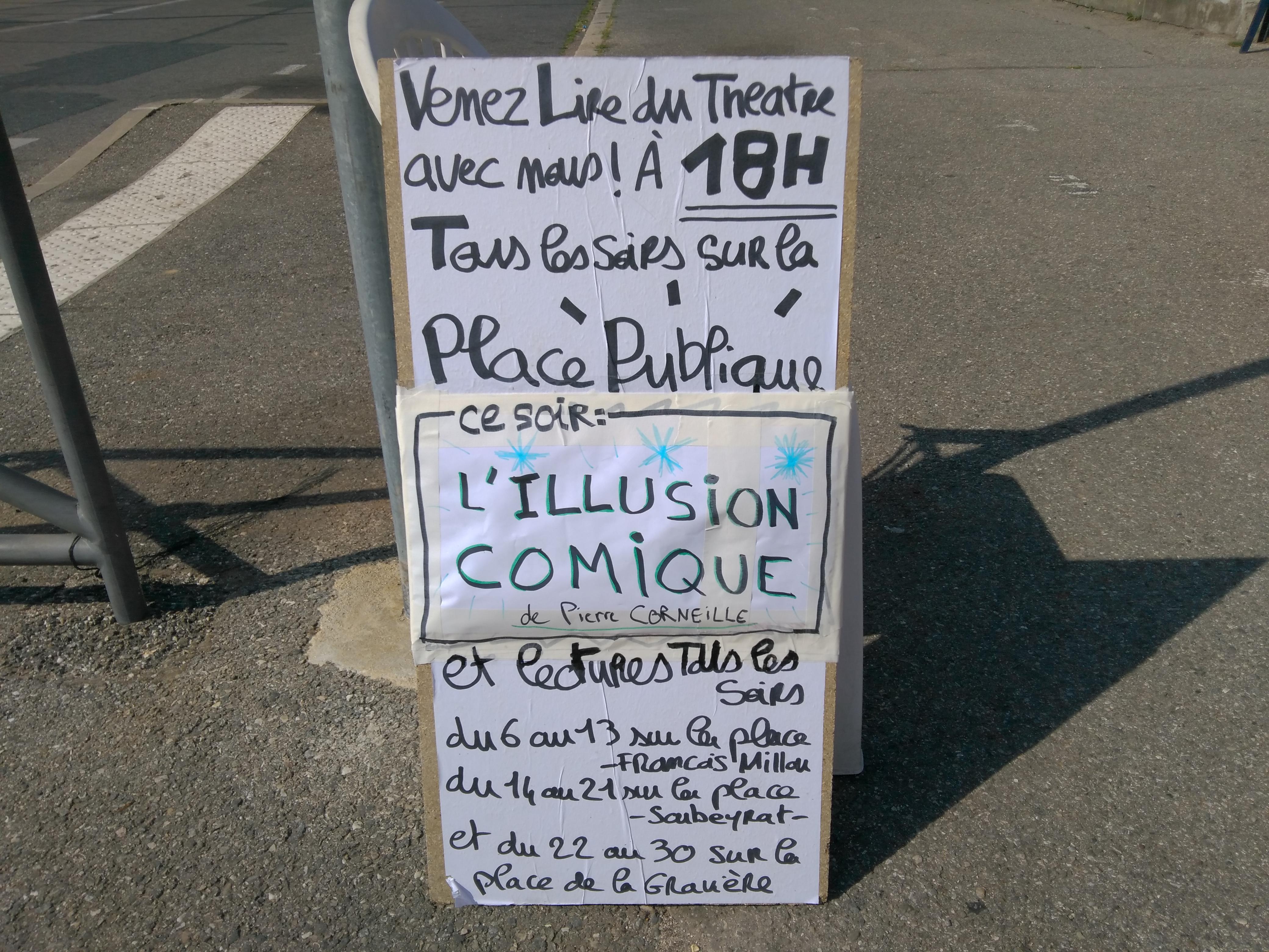Lecture Publique de L'ILLUSION COMIQUE, de Pierre Corneille